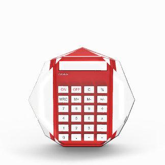 赤い計算機の計算機 表彰盾