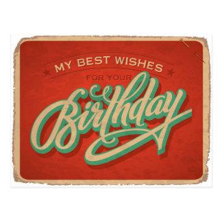 赤い誕生日 ポストカード