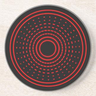 赤い警報抽象的な回転のガンマの軽いコースター コースター