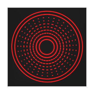赤い警報抽象的な回転のガンマは軽いキャンバスを導きました キャンバスプリント