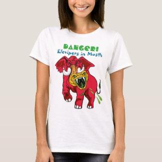 赤い象または黄色いお茶会の毒蛇の異常 Tシャツ