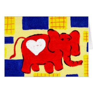 赤い象愛 カード