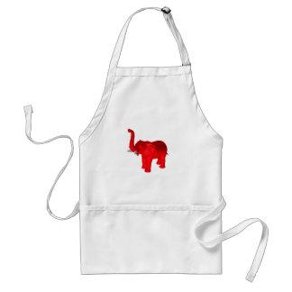 赤い象 スタンダードエプロン