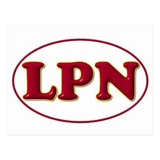赤い赤LPN ポストカード