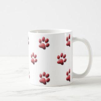 赤い足のプリントのマグ コーヒーマグカップ
