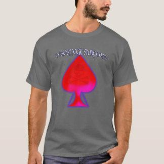 赤い踏鋤関連のロゴ Tシャツ