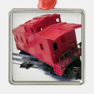 赤い車掌車 メタルオーナメント