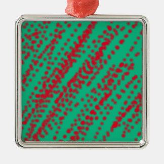 赤い込み合いをはねかけることの抽象美術のミント色 メタルオーナメント