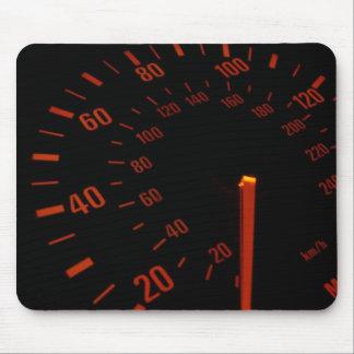 赤い速度計のダイヤル マウスパッド