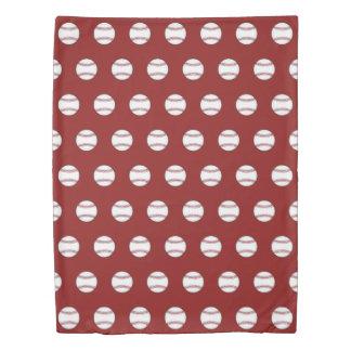 赤い野球の羽毛布団カバー 掛け布団カバー