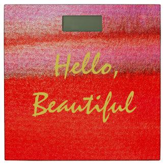 赤い金こんにちはの美しい体重計 体重計
