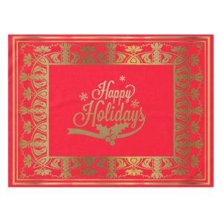 赤い金ゴールドのクリスマスの休日のテーブルクロス色の変更 テーブルクロス