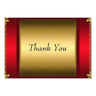 赤い金ゴールドのサンキューカードありがとう カード