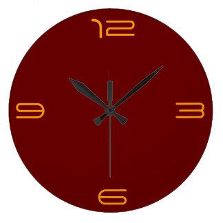 赤い金ゴールドのミニマリスト>明白な柱時計 ラージ壁時計