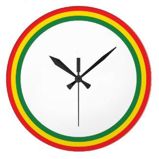 赤い金ゴールドの緑の時計 ラージ壁時計