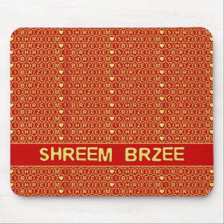 赤い金ゴールドの詠唱Shreem Brzeeは富を引き付けます マウスパッド