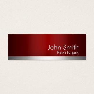 赤い金属の形成外科医の名刺 スキニー名刺