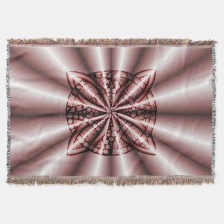 赤い金属ケルト結び目模様のオリジナルの芸術 スローブランケット