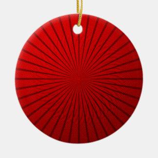 赤い金属錯覚 セラミックオーナメント