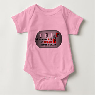 赤い金曜日の乳児のTシャツ ベビーボディスーツ