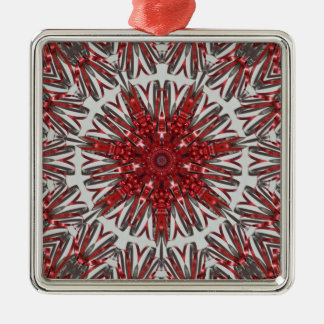 赤い銀製のリボン メタルオーナメント