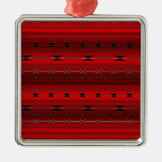 赤い鋼線 メタルオーナメント