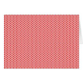 赤い長旗の旗のバント グリーティングカード