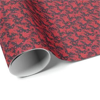 赤い開花の無光沢の包装紙 ラッピングペーパー