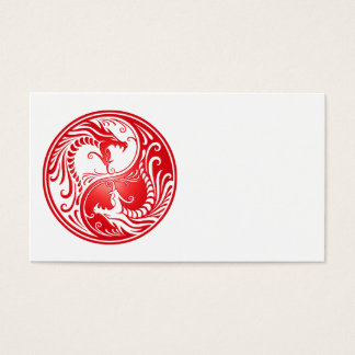 赤い陰陽のドラゴン 名刺