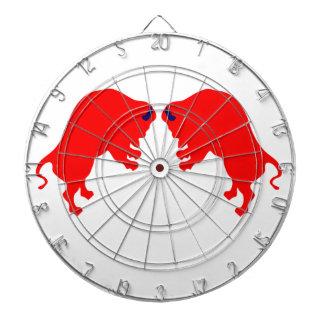 赤い雄牛の金属のおりのダート盤 ダーツボード