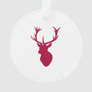 赤い雄鹿の頭部のクリスマスまたは雄鹿パーティ オーナメント