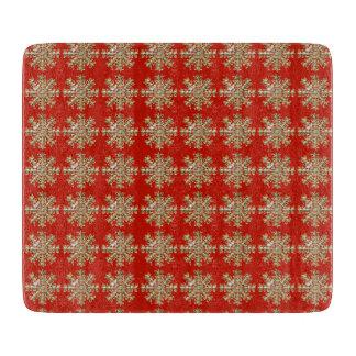 赤い雪片パターン カッティングボード