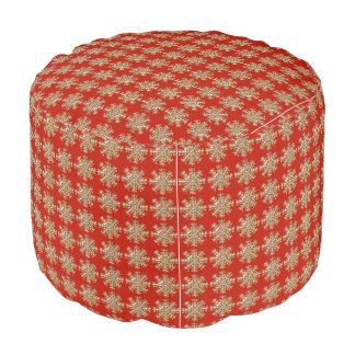 赤い雪片パターン プーフ