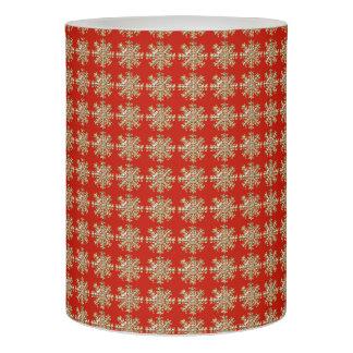 赤い雪片パターン LEDキャンドル