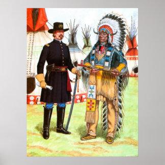 赤い雲、Oglalaスー族の責任者 ポスター