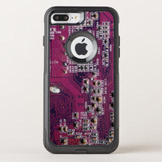 赤い電子回路板 オッターボックスコミューターiPhone 8 PLUS/7 PLUSケース