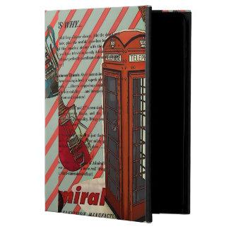赤い電話バンド石nロールエレキギター iPad airケース