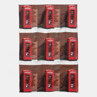 赤い電話箱ロンドンイギリス ハンドタオル