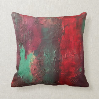 赤い青の抽象芸術2 クッション