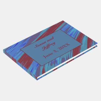 赤い青色の棒の抽象芸術 ゲストブック