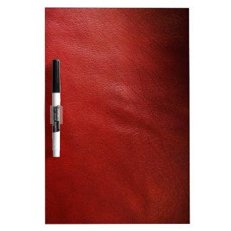 赤い革デザイン ホワイトボード