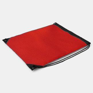 赤い革構造 ナップサック