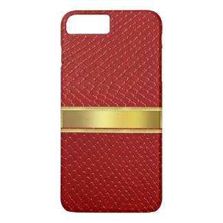 赤い革皮の質のiPhone 7の箱 iPhone 8 Plus/7 Plusケース