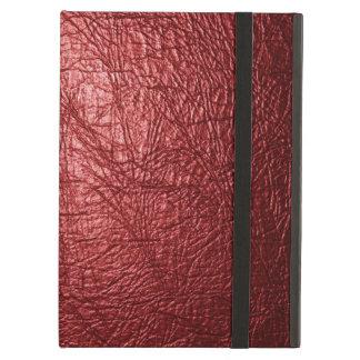 赤い革質のiPadの空気箱 iPad Airケース