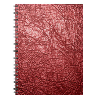 赤い革質 ノートブック