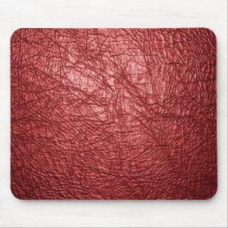 赤い革質 マウスパッド