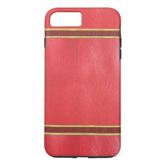 赤い革金ゴールドのトリムの質の箱 iPhone 8 PLUS/7 PLUSケース
