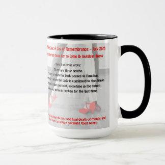 赤い靴日のライム病の認識度のコップ マグカップ