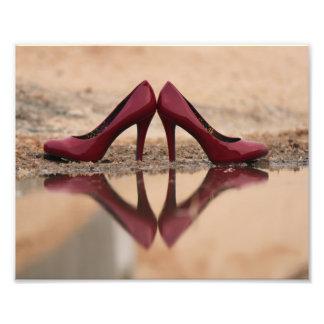 赤い靴 フォトプリント