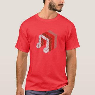 赤い音楽ノート Tシャツ